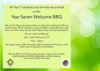 Year 7 Welcome BBQ