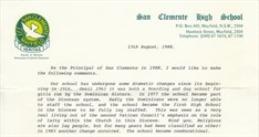 1988 670 Students Staff 52 Sr Marie Bolands Letter For Time Capsule Link