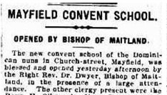 1920 10 18 Link Mayfield Convent School Opened By Bishop