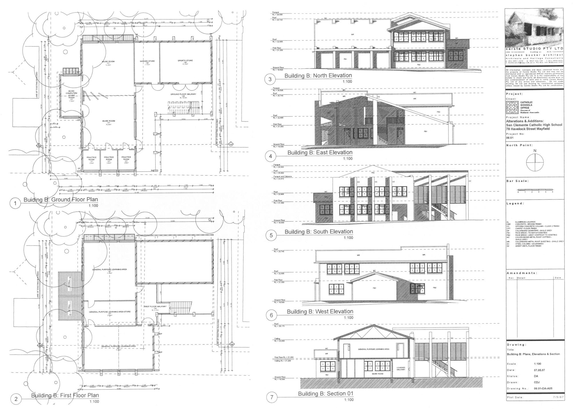 Planned extension san clemente high school mayfield school building plan section