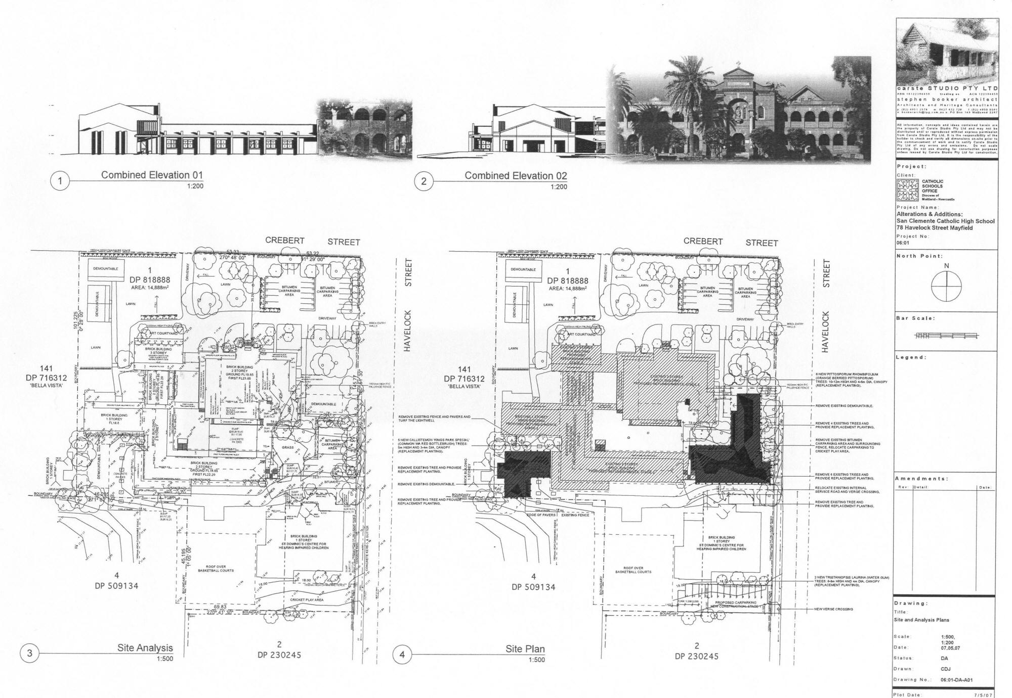 Plan En Elevation : Planned extension san clemente high school mayfield